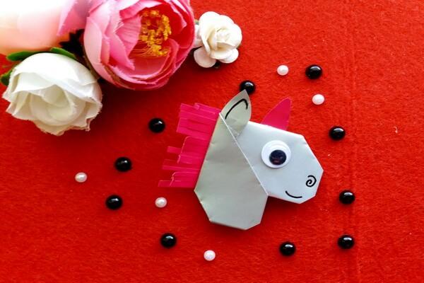 Оригами голова единорога поэтапно - шаг 10