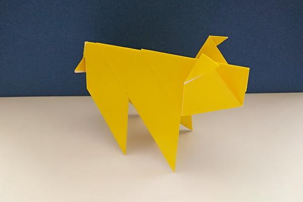 Оригами свинка поэтапно - шаг 12
