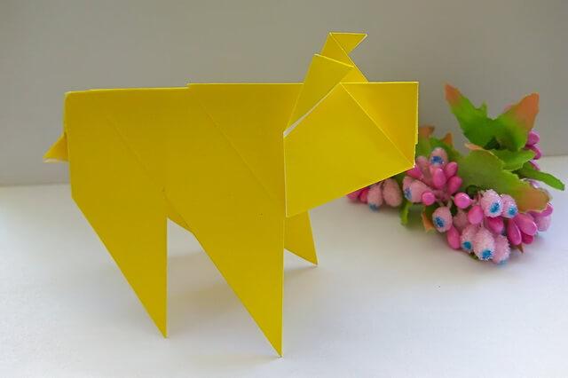Оригами свинка - пошаговый мастер-класс