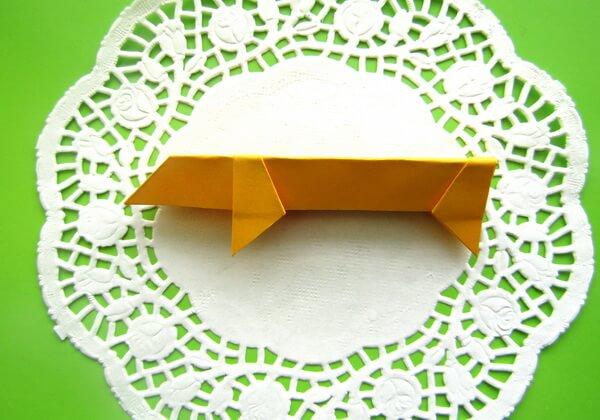 Оригами такса пошагово - шаг 11