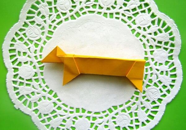 Оригами такса пошагово - шаг 13