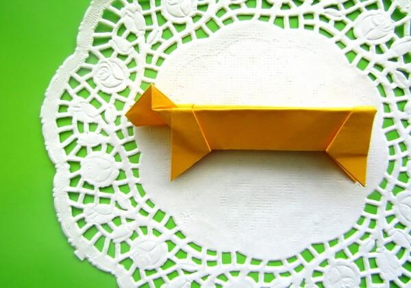 Оригами такса пошагово - шаг 14
