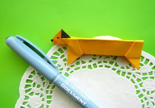 Оригами такса пошагово - шаг 15