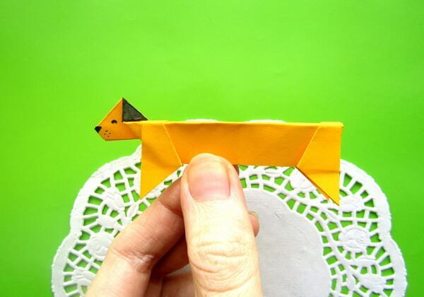Такса в технике оригами своими руками - пошаговый мастер-класс для новичков