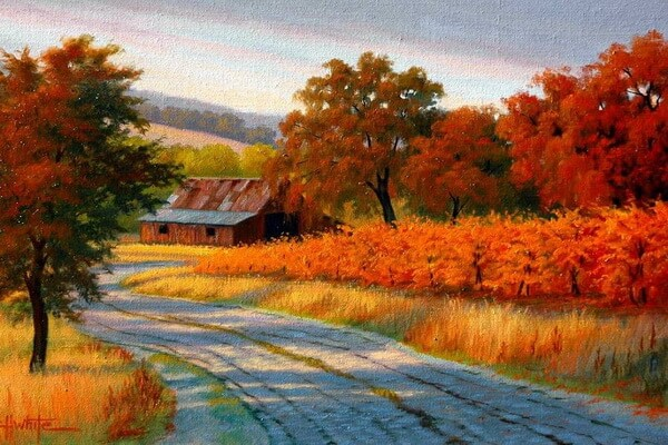 Осень в живописи художников - Золотая осень Чарльза Уайта