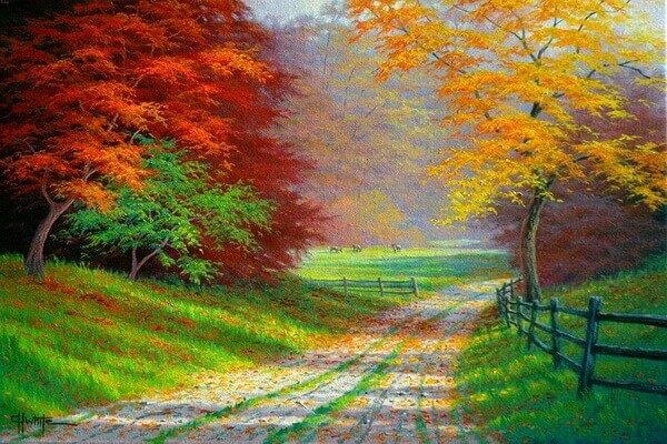 Осень в живописи Чарльза Уайта