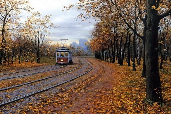 Осень в живописи художников - Осенние пейзажи Евгения Лушипина