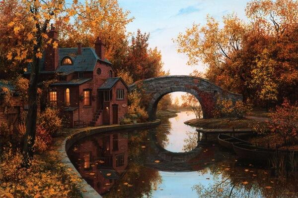 Осень в живописи Евгения Лушипина