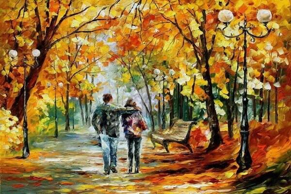 Осень в живописи - Осенние пейзажи Леонида Афремова
