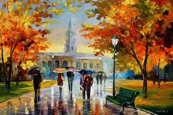 Осень в живописи Леонида Афремова