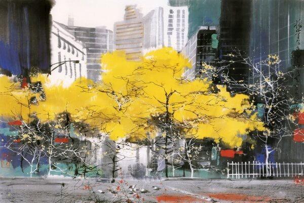 Осень в современной живописи - Китайский художник Лю Маошан