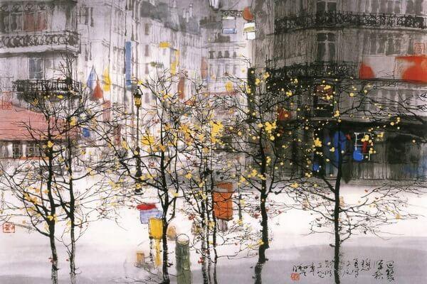 Осень в китайской живописи - Художник Лю Маошан