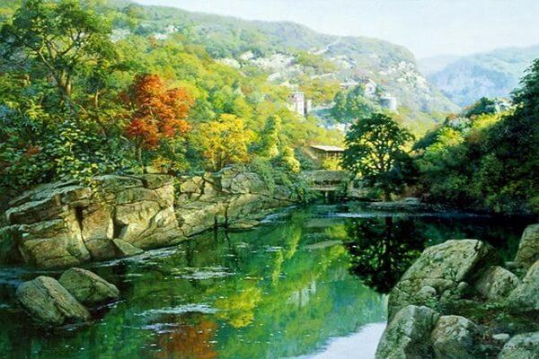 Осень в японской и китайской живописи - Художник Tian Haibo