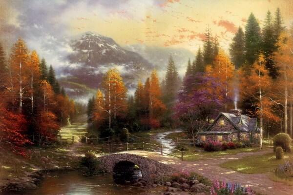 Осень в живописи - Осенние пейзажи Томаса Кинкейда