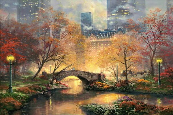 Осень в живописи Томаса Кинкейда