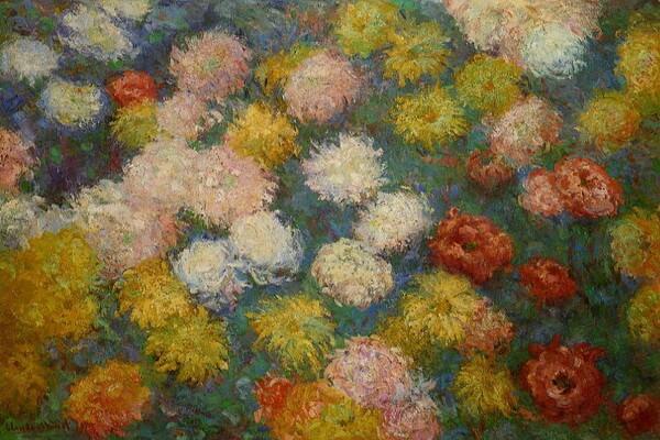 Осенние цветы в живописи Клода Моне