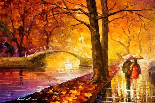 Красочная осень Леонида Афремова