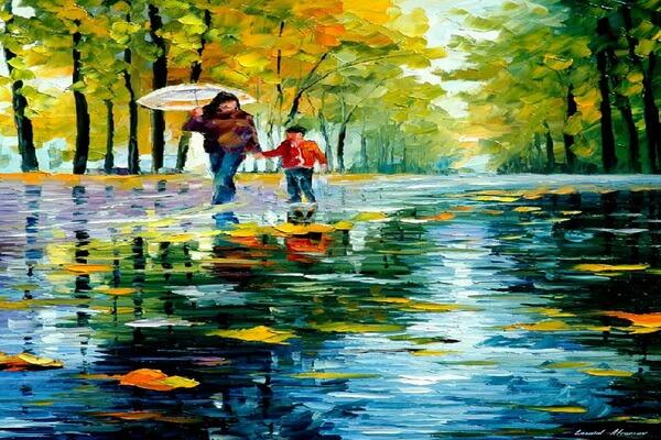 Осенние пейзажи на картинах Афремова