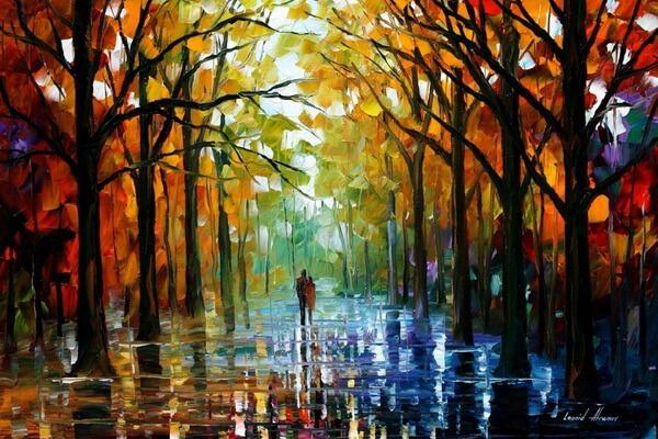 Осень в творчестве Леонида Афремова