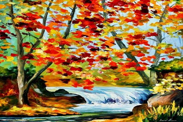 Осенние пейзажи в творчестве Афремова