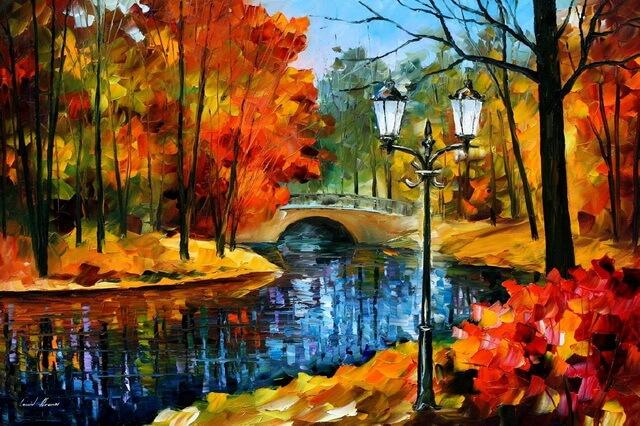 Осенние пейзажи Афремова и осень в творчестве известного мастера мастихина