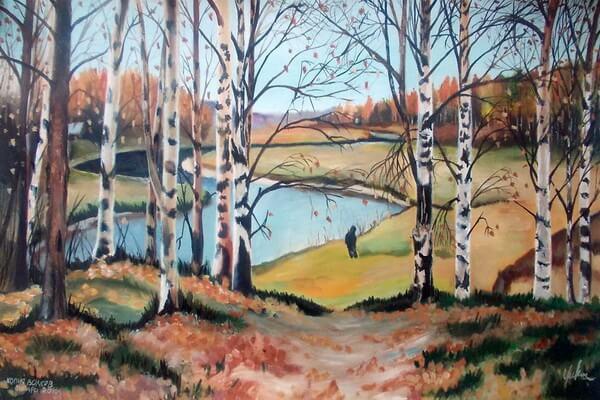Осенние пейзажи в русской живописи - Осень на картинах Ефима Волкова