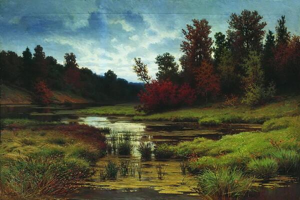 Осенние пейзажи в живописи русского художника Ефима Волкова