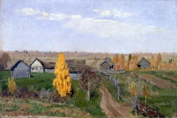 Осенние пейзажи в русской живописи в творчестве Левитана