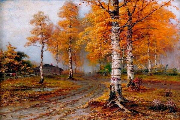 Осенние пейзажи на картинах Юлия Клевера