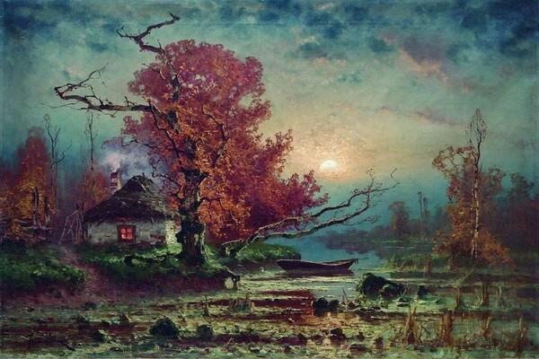 Осенние пейзажи на картинах русского художника Юлия Клевера