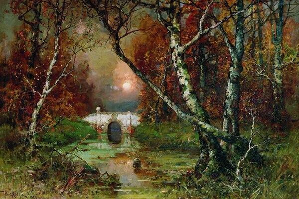Красивые осенние пейзажи в живописи - Юлий Клевер