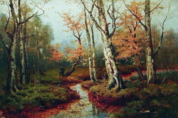 Осенние пейзажи в живописи - Осенний лес на картинах Юлия Клевера
