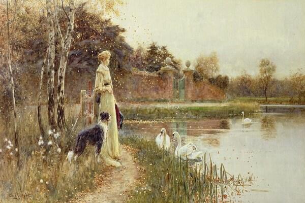 Осенние пейзажи в живописи - Осенние листья, Томас Ллойд