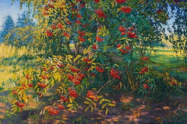 Осенние пейзажи в живописи - Осенний сад Елены Бархатковой