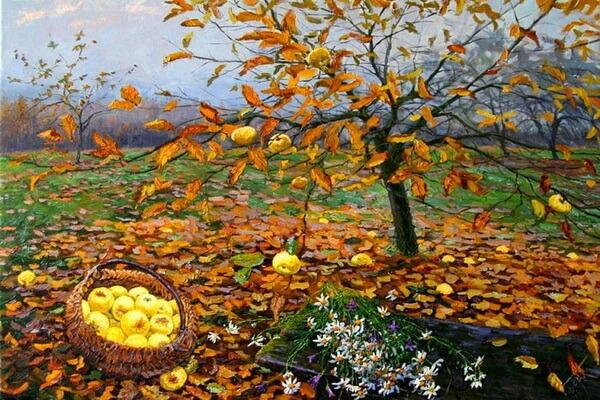 Осенние пейзажи в живописи - Осенние картины Елены Бархатковой