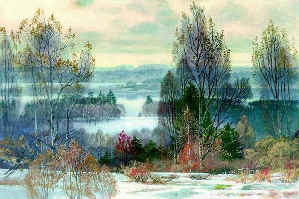 Осенние пейзажи в современной живописи - Осенние пейзажи акварелью от Вячеслава Чернакова