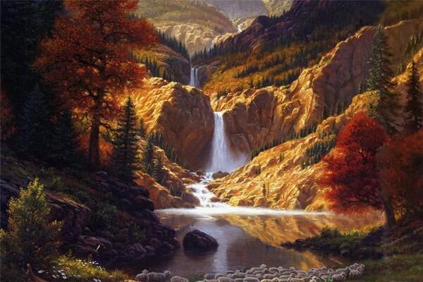 Осенние пейзажи в живописи Mark Keathley