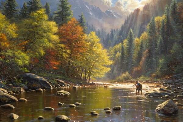 Осенние пейзажи в живописи Марка Китли