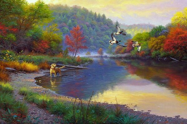 Осенние пейзажи в современной живописи - Художник Марк Китли