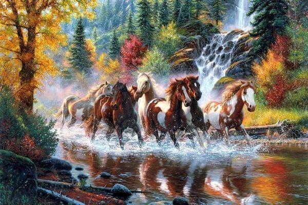Осенние пейзажи в живописи американского художника Марка Китли