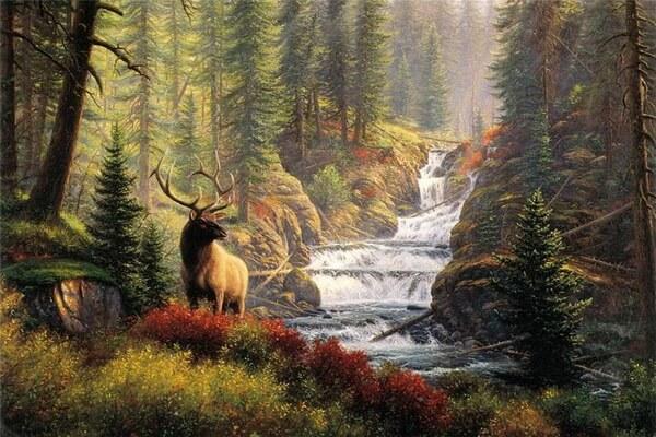 Осенние пейзажи в живописи - Осенний лес Марка Китли