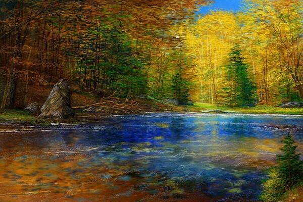 Осенние пейзажи в живописи Andre Kosslick
