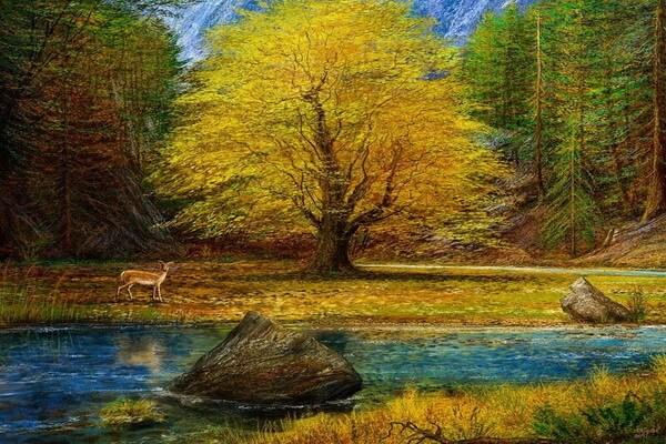 Осенние пейзажи в современной живописи - Художник Andre Kosslick