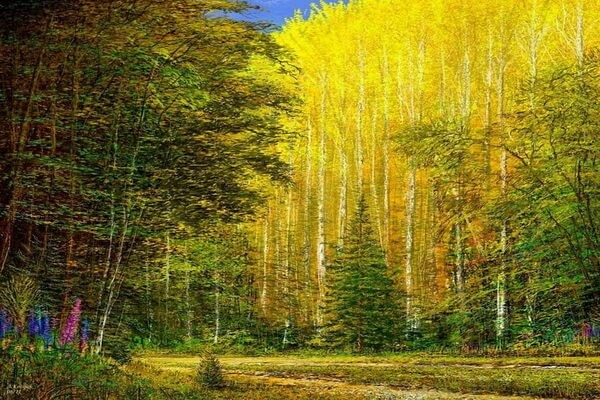 Осенние пейзажи в современной живописи - Художник Андре Косслик (Andre Kosslick)