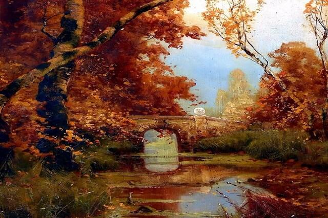 Осенние пейзажи в живописи - картины природы осенью известных художников