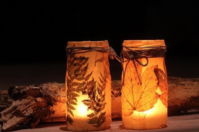 Осенние подсвечники своими руками - фото, идеи, рекомендации