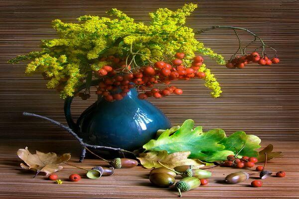 Осенняя икебана - красивые идеи оформления