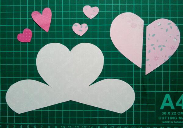 Объёмная валентинка-сердце своими руками - шаг 2