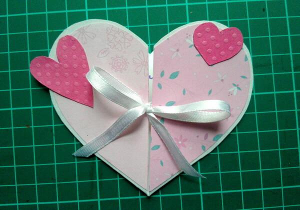 Объёмная валентинка-сердце своими руками - шаг 11