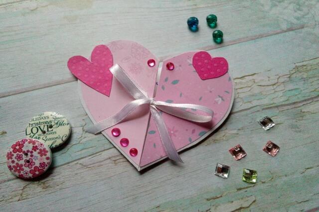 Объёмная валентинка сердце своими руками